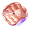 Fire polished 14mm Transparent rosaline Aurora Borealis